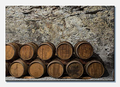 wandmotiv24 Cuadro en Lienzo Una Antigua Bodega de Vino 60x40cm (Ancho x Alto) Foto panorámica Foto Lienzo Mural Foto Regalos M0821