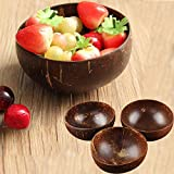 Cuenco de coco natural creativo, ecológico, sopa, ensalada, fideos, cuenco de arroz, cuencos de madera para frutas, artesanía, decoración de obras de arte