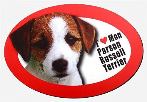magnet j'aime mon parson russell terrier