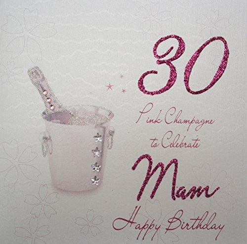 Witte katoenen kaarten wba30p-Mam Pink Champagne, 30
