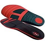 Stridetek Cross Trainer Orthotic Insoles - Arch Support Metatarsal Pad & Gel Plugs Prevent Foot Pain Plantar Fasciitis & Shin Splints - (Red) - Men 10-9.5 Women 11-10.5
