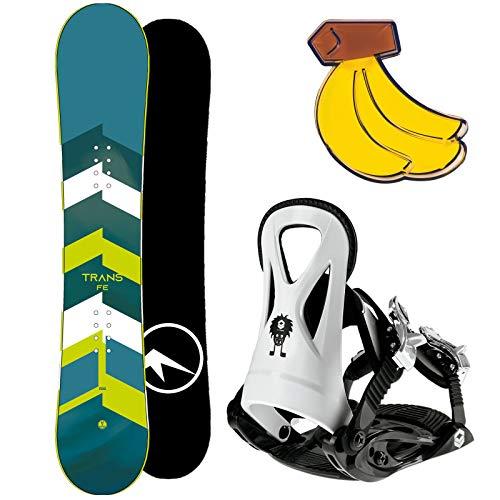 Trans FE Kinder Snowboard Set 2020~125 cm + FTWO JUNIOR BINDUNG GR. S + PAD