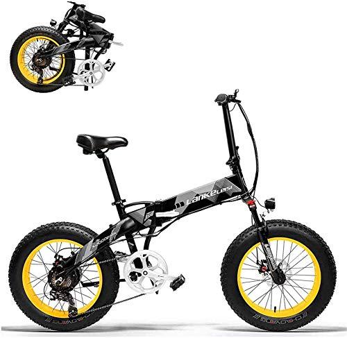Bicicletta Elettrica, Biciclette 20in elettrico ciclomotori bicicletta- 48V 1000W elettrico pieghevole della bici con 35 kmh in alluminio Montagna / Città / bicicletta della strada con 20 x 4 pollici