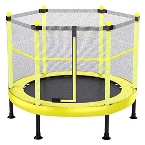 HLZY Toddler Trampoline with Enclosure - Folding Kids Trampoline for Indoor And Outdoor Toys with Safety Enclosure Net And 360° Padded Handle Trampolines for Kids 50-300Kg (Size : 60inch)