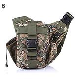 CplaplI Sac pour Appareil Photo Saddle Bag Waist Bag Outdoor Leisure Shoulder Crossbody Backpack Sling Shoulder Camera Bag Vert Olive Noir