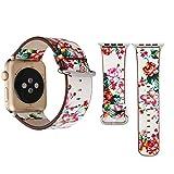 Montres de Sport en Plein air pour Apple Watch Séries 3 & 2 & 1 38mm Mode Pastoralisme Style Petit Motif Floral Femmes Montre...