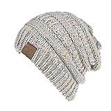 Sombrero Invierno para Mujer Gorro con Coleta de Punto Cálido Gorros Elástico de Lana de Otoño Invierno Hip Hop con Agujero de Cola de Caballo Knit Ponytail Beanie Hat para Coleta Multicolor