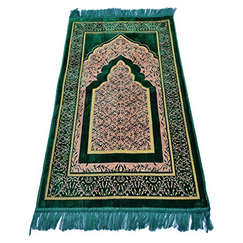 TRADITIONAL Alfombra de oración estilo turco/otomano con patrón oriental, 110 x 66...