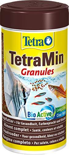 TetraMin Granules Mangime per Pesci sotto Forma di Granuli Fini per Tutti i Pesci Ornamentali d Acqua Dolce, 250 ml