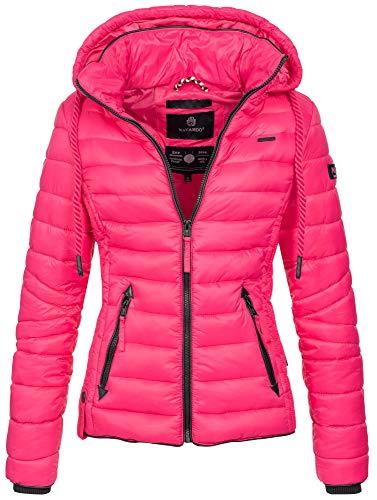 Navahoo Damen Jacke Steppjacke Übergangsjacke gesteppt Stepp Frühjahr B650 [B650-Lulana-Pink-Gr.XS]