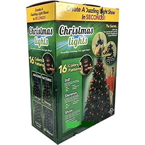 Mentrion 64 Bulbs Christmas Tree Colorful Light and String Lights Show...
