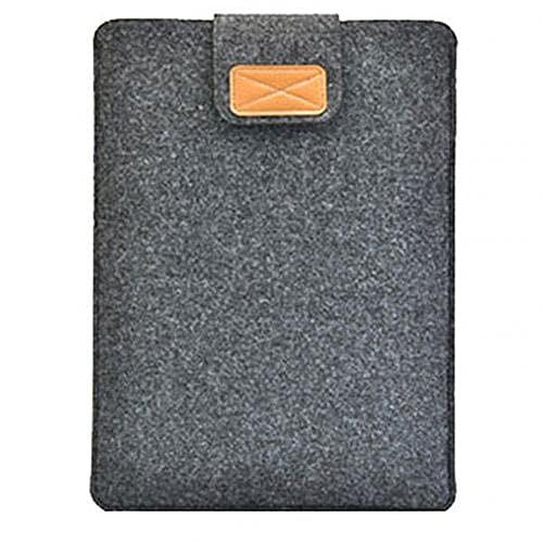 Hexu Funda protectora de fieltro antiarañazos para MacBook Airs 13 Pro Retina 12 15 para ordenador portátil MacBook Air 13 A1932 cubierta de soporte A2159 (color gris oscuro, tamaño: 15 pulgadas)