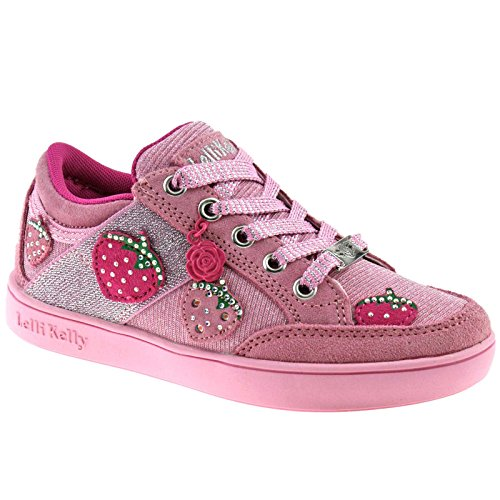 Lelli Kelly LK6322 (EC01) Rosa Suede Fragolina California Light Up Shoes -24 (UK 6.5)