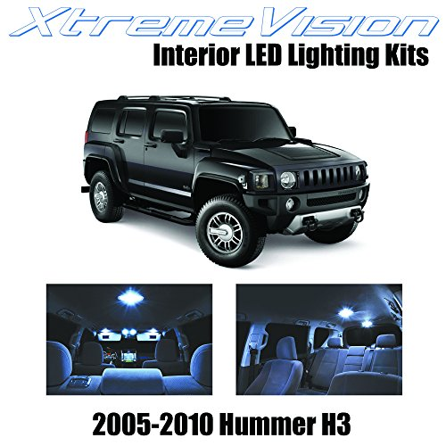 XtremeVision Interior LED for Hummer H3 2005-2010 (15 Pieces) Cool White Interior LED Kit + Installation Tool