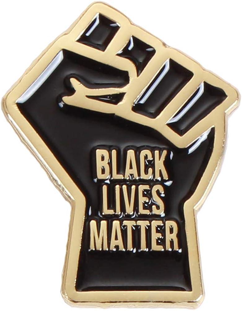 Black Lives Matter Pins Los Angeles Mall - Pin Fist Raised Bargain sale BLM Lapel
