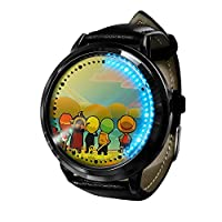 ワンピース ルフィ アニメ マンガキッズウォッチキッズウォッチ点滅LEDライトタッチスクリーン防水デジタルユニセックスコスプレギフト腕時計ギフト子供向け