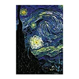 Artangle The Starry Night by Vincent Van Gogh Hardcover Plain A5 Size Premium Notebook