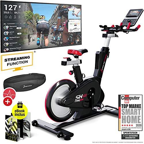 professionnel comparateur Vélo d'appartement Sportstech SX600, console intelligente Android, système de freinage… choix