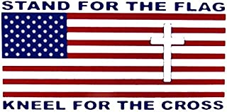 Ant Enterprises Wholesale Lot of 6 Stand for The Flag Kneel for The Cross Decal Bumper Sticker