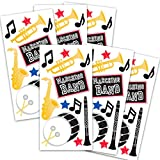 Marching Band Stickers Party Favors Pack ~ 6 Music Sticker Packs for Kids Teens (Marching Band Party Supplies, Decorations)