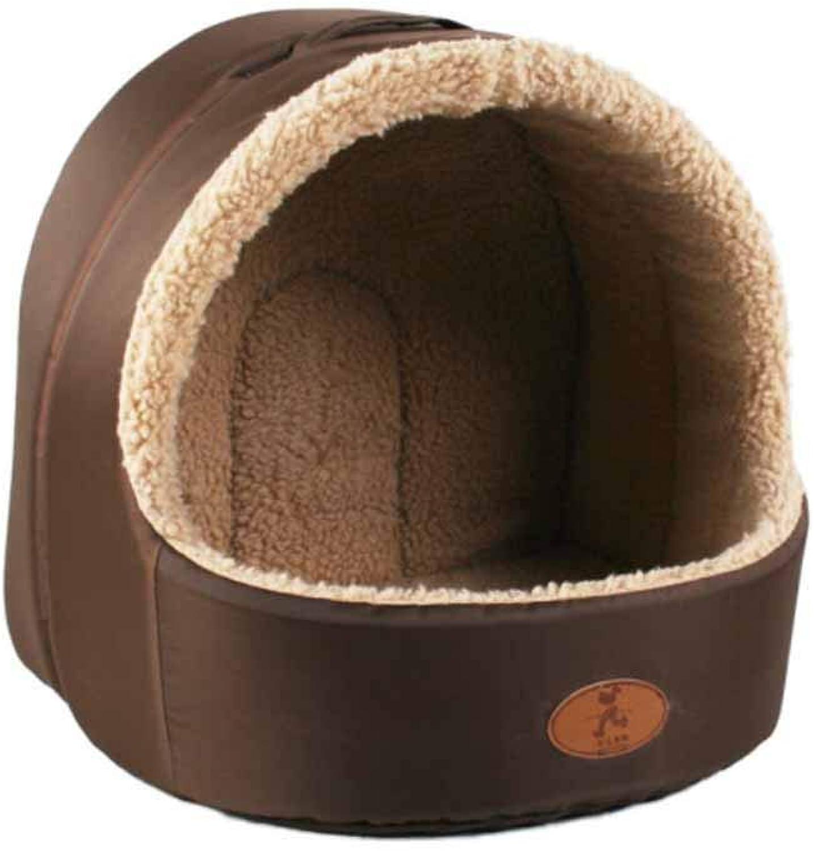 Muziwenju Kennel, Teddy Warm and Windproof Autumn and Winter Pet Nest, Cat Mat, (Size   S)