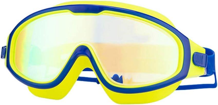 ZWSM Gafas De Natación Niños Ajustables Antiniebla Sin Fugas Gafas De Natación Protección UV con Tapón Auditivo Gafas De Natación Transparentes para Niños (Edad 5-15)