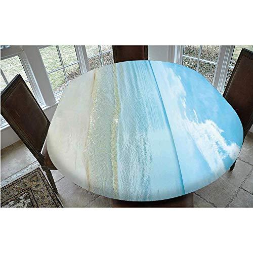Mantel ajustable de poliéster con bordes elásticos, ideal para mesas ovaladas/Olbong de 24 x 48 pulgadas, protección para tu