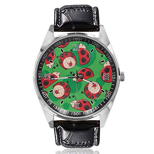 Ladybug - Reloj de pulsera para mujer, estilo clásico, diseño sencillo y moderno