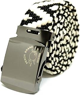 【ピーチブランド】 ガチャベルト 日本製 80年以上続く老舗細巾織物メーカー直販 プレゼント 紳士用 選べる3サイズ