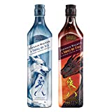 Johnnie Walker Song of Fire + Johnnie Walker Song of Ice Whisky Escocés de mezcla, Edición limitada Juego de Tronos: Casa Stark y Casa Targaryen - 2 x 700 ml