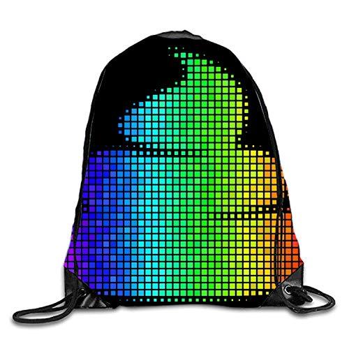 uykjuykj Tunnelzug Rucksäcke, Triangle Dots Sackpack Drawstring Backpack Waterproof Gymsack Daypack for Men Women Shining Poo9 Lightweight Unique 17x14 IN