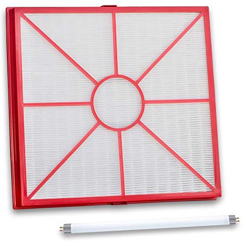 Hochwertiger Hepa Filter und UVC Lampe (antibakteriell) - Passend für Lux Aeroguard Luftreiniger - Bestleistung beim Saugen