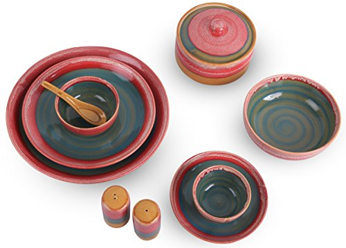 Caffeine Handmade Ceramic Dinner Set/Contemporary Studio Art Dinner Set -37 Piece