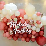 Balloon Garland Arch Kit, 144Pcs Red Cream Rose Dusty Pink Latex Balloons with Balloon Accessories for Wedding Baby Shower Birthday Graduation Anniversary Party Background Decorations