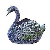 Cygne Noir Résine Sculpture Animal Pot Décor pour La Maison Cadeaux Décor À La Maison Cadeau Extérieur Jardin Salon Boîte De Rangement De Bureau