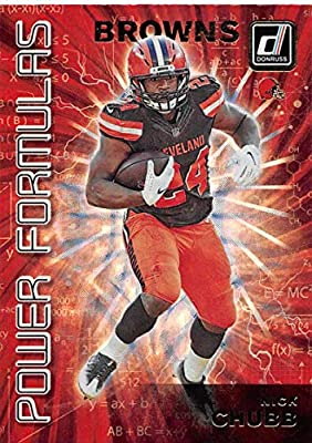 2019 Donruss Power Formulas Football #7 Nick Chubb Cleveland Browns Official NFL Trading Card From Panini America