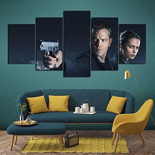 CAFO Leinwand gedruckt Poster 5 Stück Jason Bourne Festliche Stimmung 100x50cm Rahmenlos
