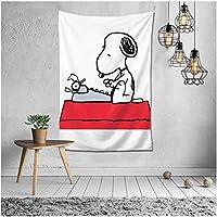 Snoopy スヌーピー タペストリー ンテリアおしゃれ壁掛け アートポスター 装飾布 インテリア ウォールアート 布ポスター 北欧風 装飾アート 模様 130*152CM