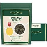 VAHDAM, hojas de té verde de las perlas del Himalaya | 100g (50 Copas) | Hojas sueltas de té verde puro | ANTIOXIDANTES