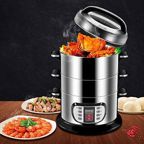 Learn More About Electric Food Steamer, 3 Tier Stainless Steel Anti-dry burning safety protection St...