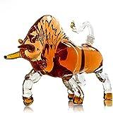 Decantadores de Licor Reutilizables Decantador de Whisky de Vaca, 500 ml Dispensador de Whisky de Barra de hogar Estilo Animal en Forma de Vaca para Todos los Amantes del Whisky y el Vino 3.12 (Colo
