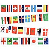 Gifts 4 All Occasions Limited SHATCHI-1186 Shatchi 2018 FIFA World Cup 9 m 32 Teams Flaggen Stoff Wimpelkette Fußball Banner mehrfarbig