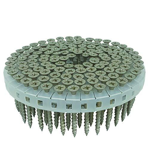 ダイドーハント (DAIDOHANT) 大臣認定品 ロール連結ビス 3941HL ブロンズ [鋼製・木下地兼用] (呼び径d)3.9x(長さL)41mm (125本x16巻入) 24673