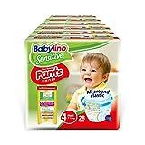 Babylino Sensitive Pants Maxi 168 - Pañales (talla 4, 7-13 kg)