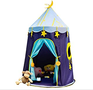 MEISHENG Children Castle Play Tent Game House Mongolian yurts Teepee Tent Indoor Outdoor Garden Beach Toys Playhouse for Boys Girls Prince Princess Star Blue