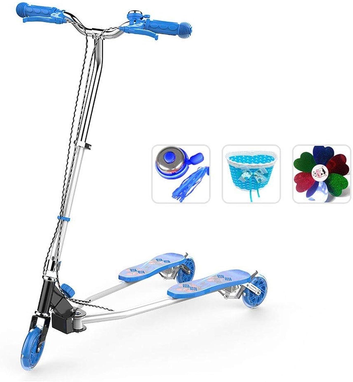 venta mundialmente famosa en línea LXJYMX Scooter, Cochero Cochero Cochero oscilante, polea de Tres Ruedas, Bicicleta. (Color   Azul)  calidad auténtica