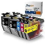 Jhaan LC3219XL Reemplazo Compatible para Brother LC3219 LC3217 Cartuchos de Tinta para Brother MFC-J5330DW MFC-J5335DW MFC-J5730DW MFC-J5930DW MFC-J6530DW MFC-J6930DW MFC-J6935DW (Paquete de 5)