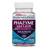 Phazyme Maximum Strength Gas & Acid Relief, Fast Acting, Cherry Flavor, 24 Chews