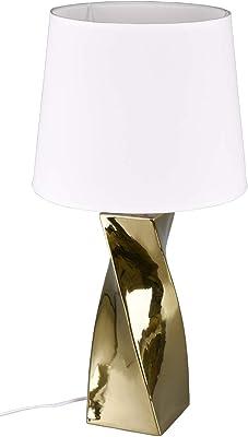 Reality Leuchten Abeba Lampada da Tavolo, Colore: Oro, Höhe 68cm
