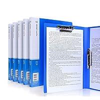 法的パッドのためのホールダーA4クリップボードホールダー会議ホールダー、カバーが付いているホールダーの仕事の折りたたみ式クリップボード、ポートフォリオオーガナイザーA4クリップボード (Color : Blue)